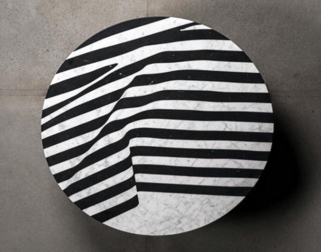 Biało-czarny marmurowy blat