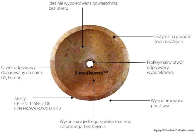 Oryginalne kamienne umywalki