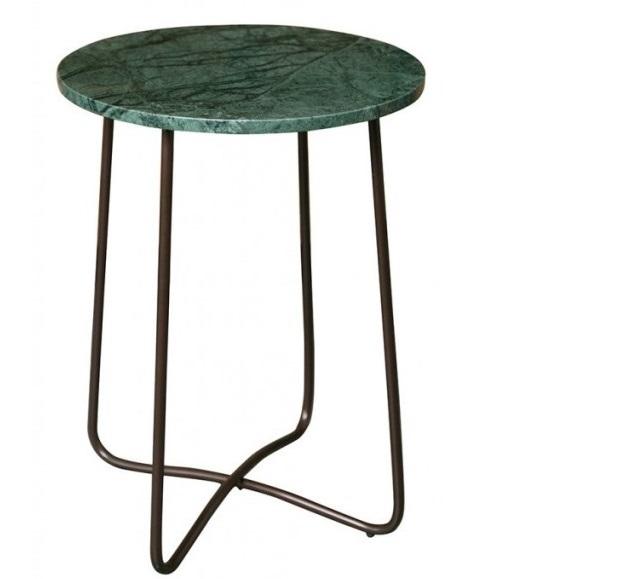 Stolik z zielonego marmuru