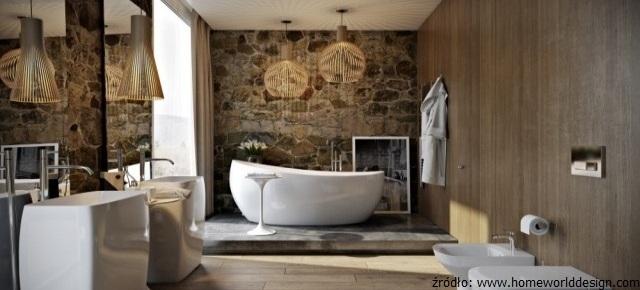 łazienka W Kamieniu I Drewnie Kamienportalpl