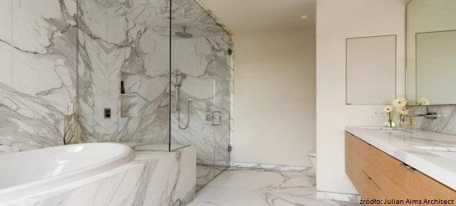 Kamień w skandynawskiej łazience